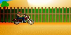 3D Harley Motorcu oyunu Resim fotoğraf