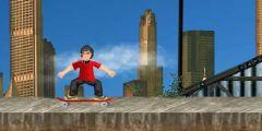 3D Sokakta Kaykay Sürme oyunu Resim fotoğraf