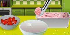 Çilekli Dondurma Hazırlama oyunu Resim fotoğraf