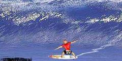 Dalgalı Denizde Sörf Yapma oyunu Resim fotoğraf