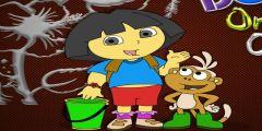 Dora Boyama oyunu Resim fotoğraf
