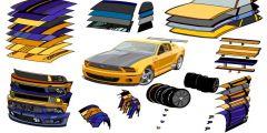 Ford Mustang Modifiye oyunu Resim fotoğraf