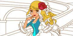 Gülen Prenses Boyama Kitabı oyunu Resim fotoğraf