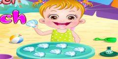 Hazel Bebek Denizde oyunu Resim fotoğraf