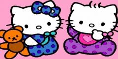 Hello Kitty Boyama Resmi Resim Fotoğrafı