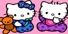 Hello Kitty Boyama oyunu Resim fotoğraf
