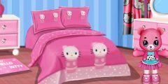 Hello Kitty Oda Düzenleme oyunu Resim fotoğraf