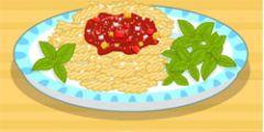 Makarna Pişirme Ketçaplı oyunu Resim fotoğraf