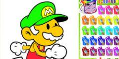 Mario Boyama oyunu Resim fotoğraf