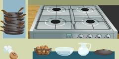 Mutfakta Yumurta Pişirme oyunu Resim fotoğraf