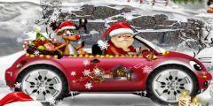 Noel Baba Arabası oyunu Resim fotoğraf
