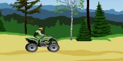 Ormanda Atv Motoru Sürme oyunu Resim fotoğraf