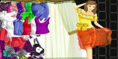 Parlak Gece Elbisesi Giydirme oyunu Resim fotoğraf