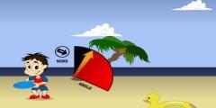 Plajda Frizbi Fırlatma Resmi Resim