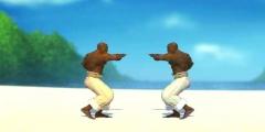 Sahilde Dövüş oyunu Resim fotoğraf