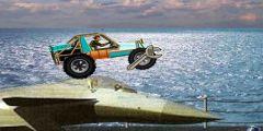 Sahilde Jeep Sürme oyunu Resim fotoğraf