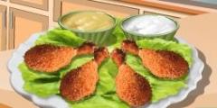Kızarmış Tavuk Eti Pişirme oyunu Resim fotoğraf
